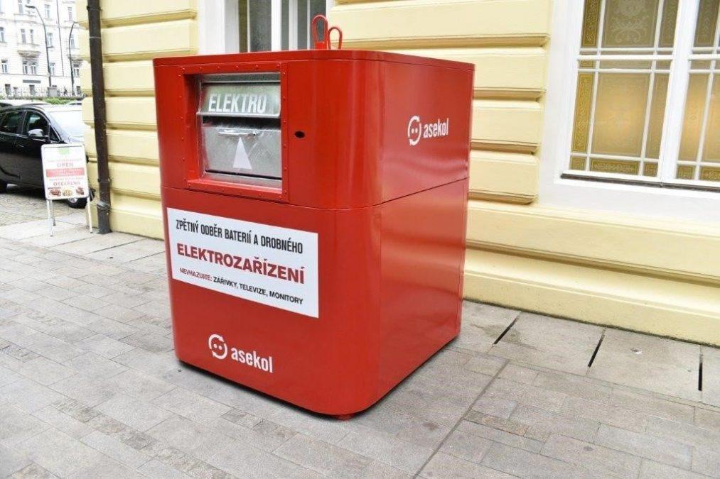 Kontejner na elektroodpad společnosti ASEKOL