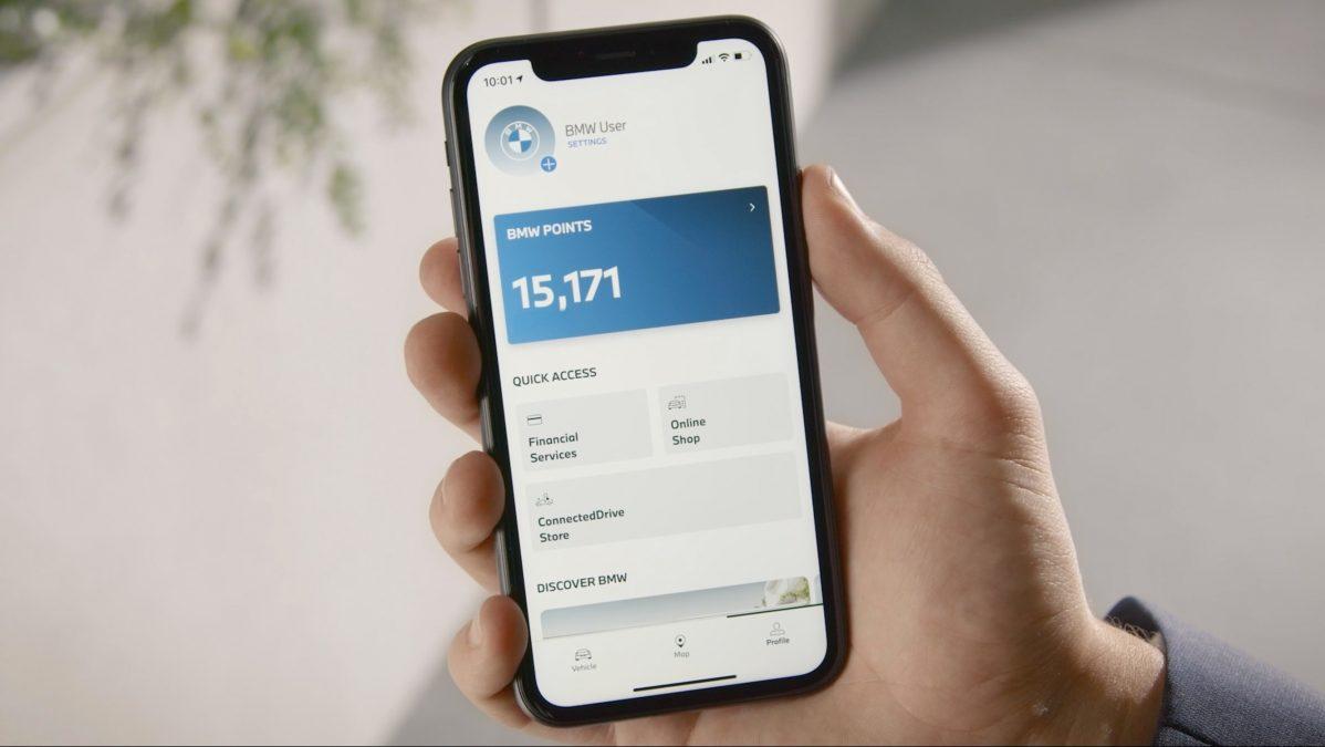 Body z programu BMW Points lze spravovat v mobilní aplikaci.