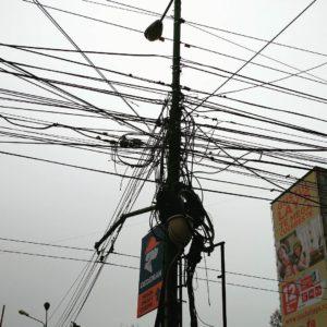 špatná distribuce elektřiny