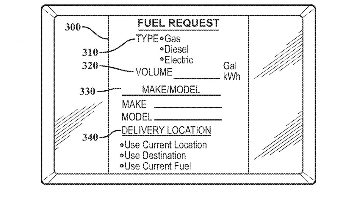 Do žádosti o tankování či dobíjení za jízdy vyplníte potřebné údaje