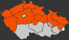 Distribuční území ČEZ